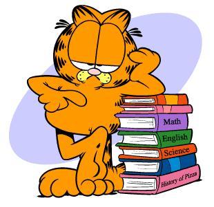garfield estudar